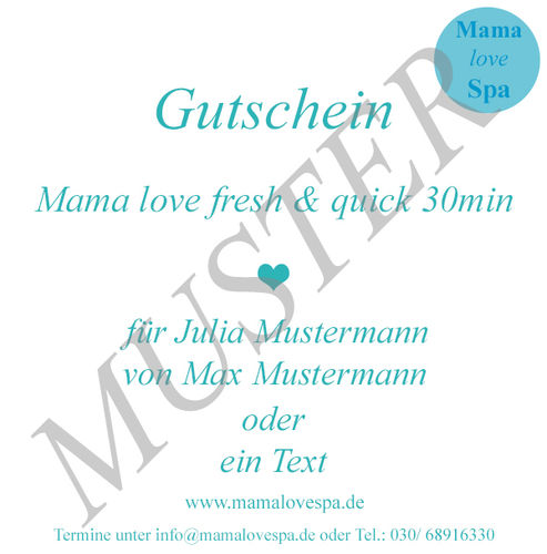 Mama love fresh & quick 30min